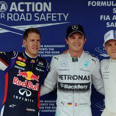 Rosberg, Bottas y Vettel, los más rápidos en el Hungaroring