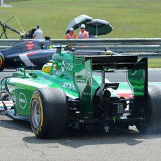 Salida de pista de Marcus Ericsson en los Libres 3