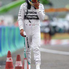 Resignación de Lewis Hamilton en Hungría