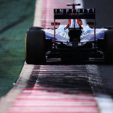 Sebastian Vettel afronta una pequeña subida