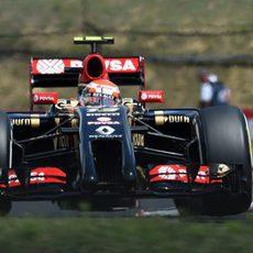 Pastor Maldonado durante los libres 3 en el Hungaroring