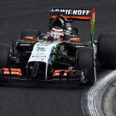 Nico Hulkenberg camino a la Q3 en el Hungaroring