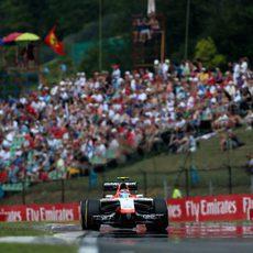 Max Chilton solo pudo ser 19º en Hungaroring