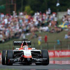 Jules Bianchi destaca en la clasificación del GP de Hungría 2014