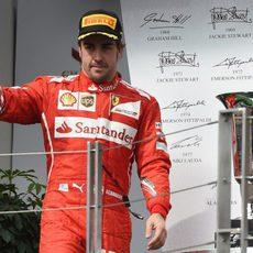 Podio inesperado de Fernando Alonso en Hungría