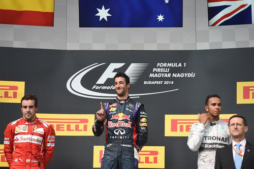 Podio del Gran Premio de Hungría 2014