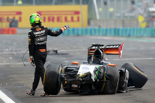Sergio Pérez abandona en el Gran Premio de Hungría