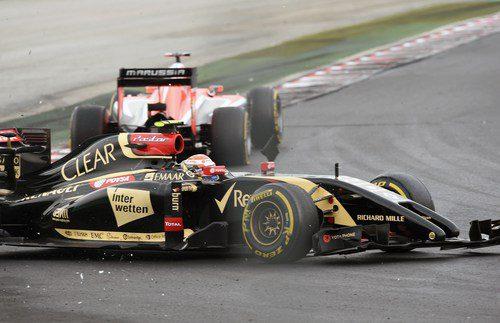 Pastor Maldonado choca con Jules Bianchi