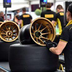Pirelli prepara las llantas y neumáticos en Spa