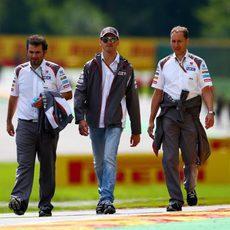 Adrian Sutil da una vuelta al circuito con Sauber