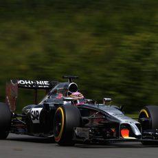Jenson Button se quedó menos contento con los neumáticos