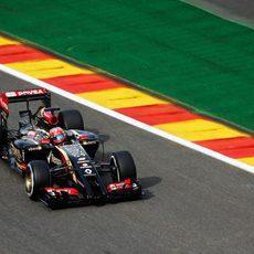 Romain Grosjean se libró de los problemas el viernes