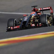 Zona de cambios de elevación para Romain Grosjean