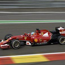 Pruebas con el compuesto medio para Fernando Alonso