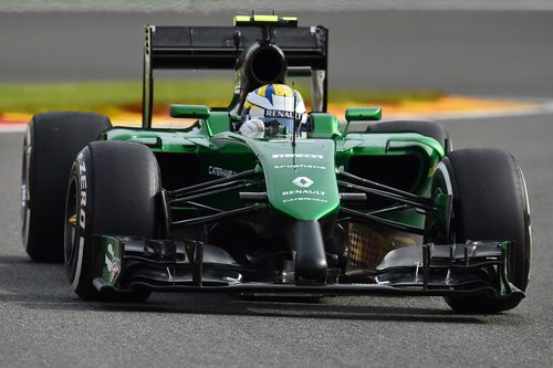 Marcus Ericsson prueba el nuevo morro del CT05