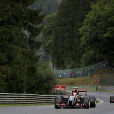 Maldonado y Grosjean ruedan en los Libres 3