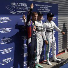 Rosberg, Hamilton y Vettel triunfan en Spa
