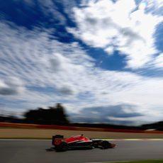 Max Chilton vuela por el circuito de Spa