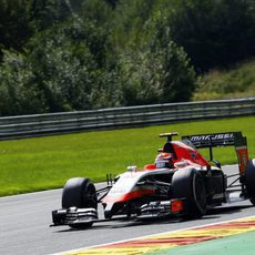 Alexander Rossi completando una tanda larga en Spa