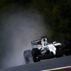 Felipe Massa tuvo problemas de tráfico en la Q3