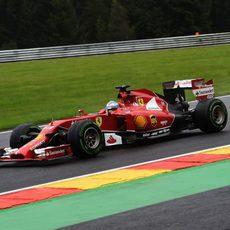 Fernando Alonso muestra un gran ritmo en Spa