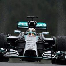 Lewis Hamilton tuvo un fallo en su vuelta lanzada