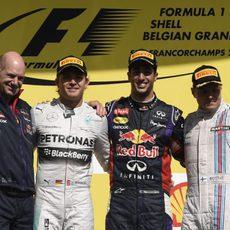 Podio del GP de Bélgica 2014