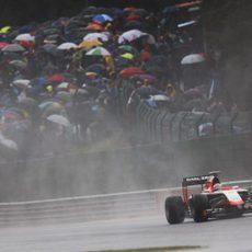 Jules Bianchi exprime el MR03 para llegar a la Q2