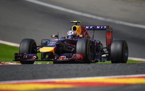 Daniel Ricciardo rueda durante el GP de Bélgica