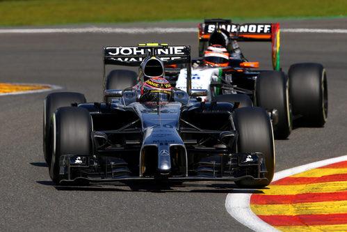 Kevin Magnussen, por delante de Nico Hülkenberg en Spa