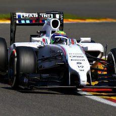 Felipe Massa se quedó sin puntos en Bélgica