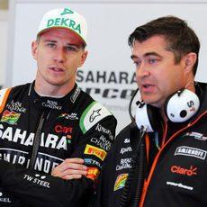 Nico Hülkenberg repasa la estrategia de carrera