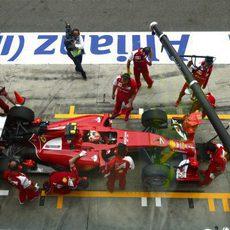 Kimi Räikkönen en el pitlane de Monza
