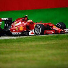 Kimi Räikkönen prueba el compuesto medio en Monza