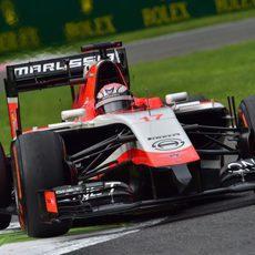 Jules Bianchi mostró confianza con el MR03