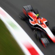 Max Chilton 'vuela' en el trazado de Monza