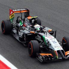 Dani Juncadela rodando en Monza con neumáticos duros