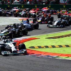 Primeras curvas del GP de Italia 2014