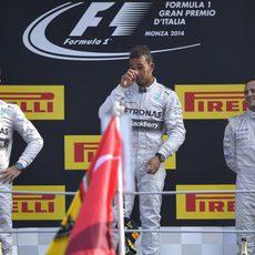Podio del GP de Italia 2014