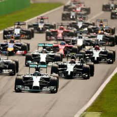 Salida del GP de Italia 2014
