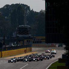 Primeros metros del GP de Italia 2014