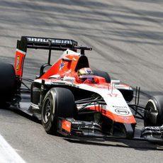 Jules Bianchi tuvo una carrera dura en Monza