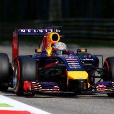 Sebastian Vettel se quedó sin neumáticos al final