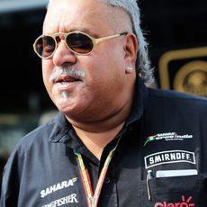 Vijay Mallya no se quiso perder el GP de Italia
