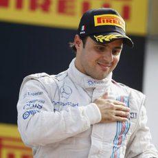 Felipe Massa agradece el apoyo de todos los 'tifosi'
