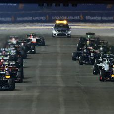 Salida del GP de Singapur 2014