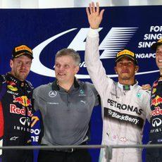 Podio del GP de Singapur 2014