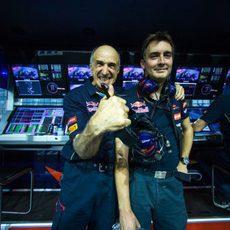Franz Tost y James Key tras el GP de Singapur