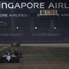 Felipe Massa durante el GP de Singapur