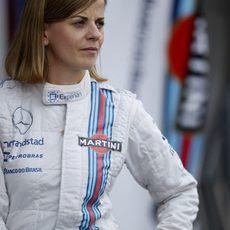 Sussie Wolff durante el GP de Singapur
